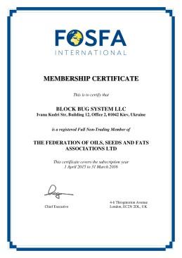 FOSFA Membership Certificate